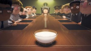 Still from Love, Death & Robots episode When the Yogurt Took Over