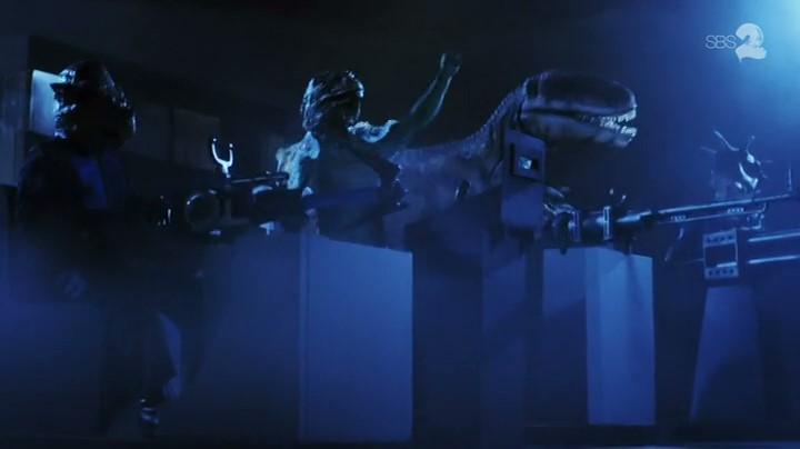 Still from Danger 5 episode Revenge of the Lizardmen