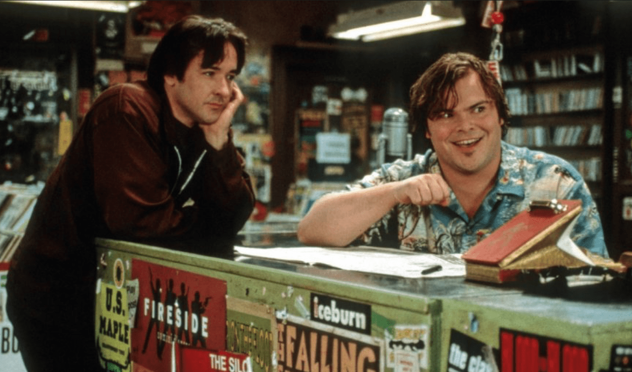 High Fidelity John Cusask and Jack Black Record Shop