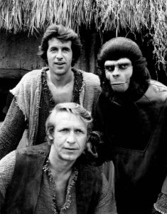 The main trio from Planet of the Apes